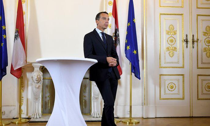 Christian Kern lud vor dem Ministerrat ins Kanzleramt.