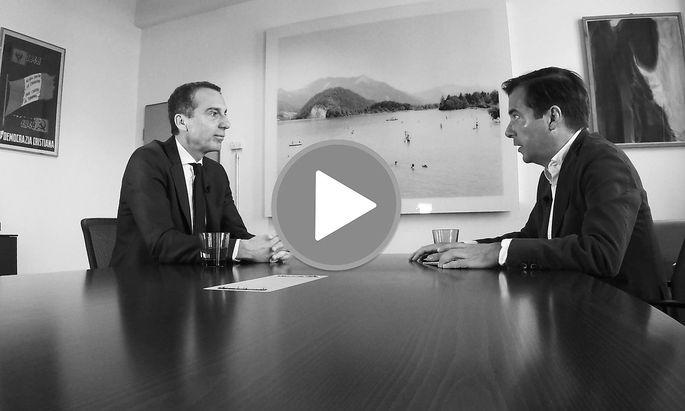 """""""Presse"""" Chefredakteur im Video-Interview mit Christian Kern"""