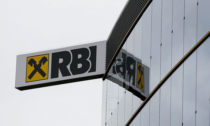 FILE PHOTO: The logo of Raiffeisen Bank International is pictured in Vienna