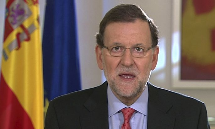 Rajoy delivers remarks on Scottish referendum in a video message in Madrid