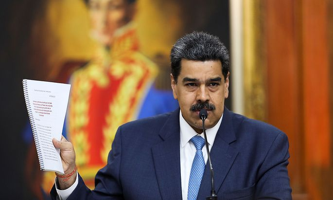 Venezuela's President Nicolas Maduro speaks during a news conference in Caracas