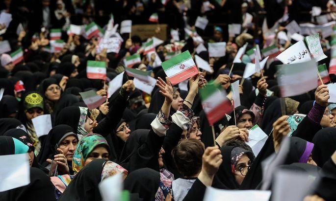 Frauen bei der Protestaktion