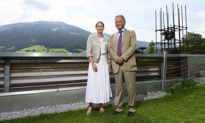 Richterin Sabine Matejka und Rechtsanwalt Rupert Wolff in Alpbach.