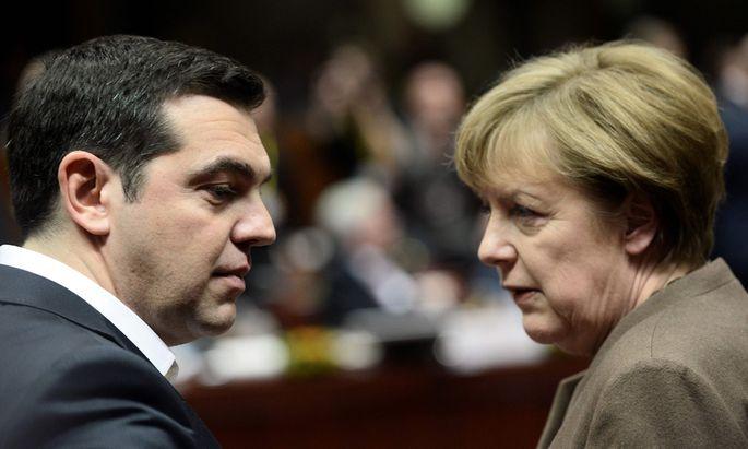 Alexis Tsipras und Angela Merkel.