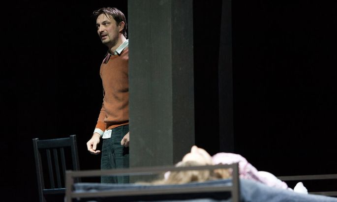 Steven Scharf als 'John Proctor' anlässlich einer Fotoprobe von 'Hexenjagd' am Wiener Burgtheater
