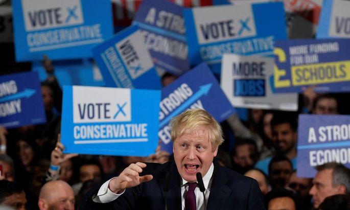 Der Vorsprung der konservativen Tories von Premierminister Boris Johnson schmilzt