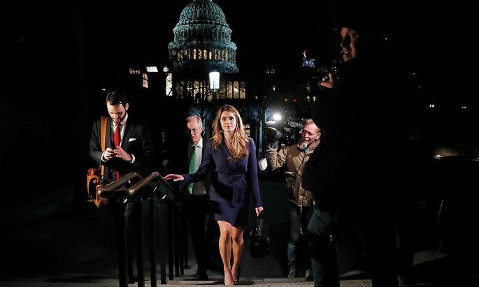 Hope Hicks, Kommunikationschefin des US-Präsidenten, wirft das Handtuch