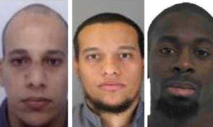 Chérif Kouachi, Saïd Kouachi und Amedy Coulibaly