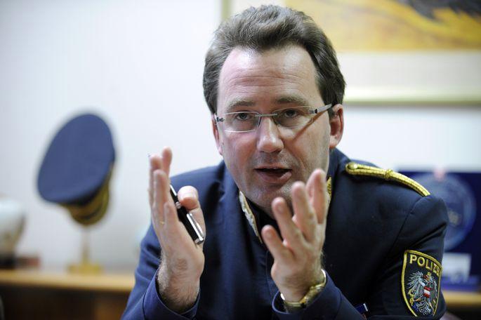 Zielscheibe der Kritik; Wiens Polizeipräsident Gerhard Pürstl.