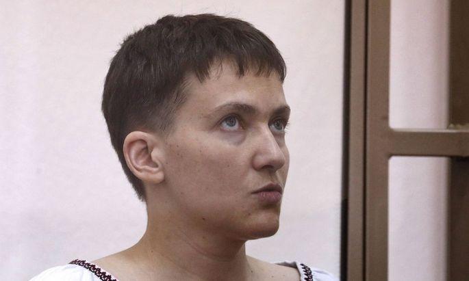Moskau Prozess gegen ukrainische Pilotin Nadija Sawtschenko ROSTOV ON DON RUSSIA MARCH 3 2016 U