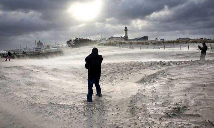 Sturm über Rostock.