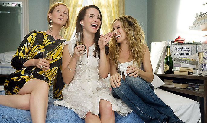 So sahen Cynthia Nixon, Kristin Davis und Sarah Jessica Parker 2008 aus.