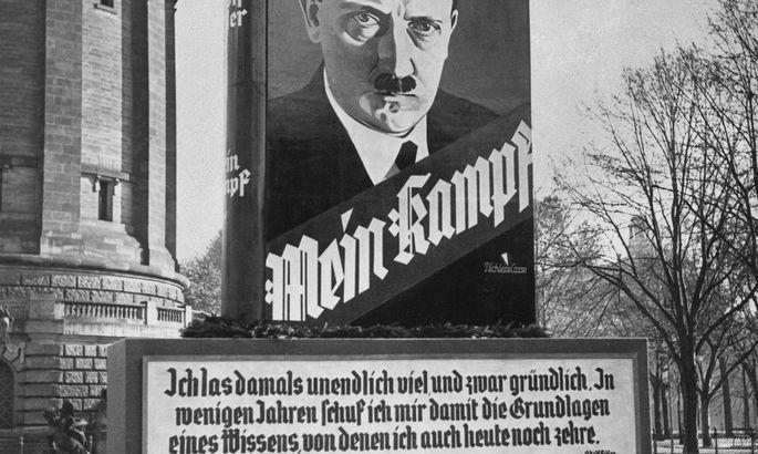 Werbeplakat fuer 'Mein Kampf'