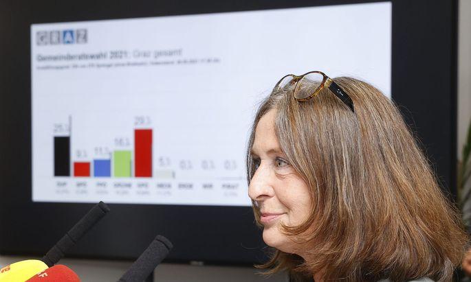 KPÖ-Spitzenkandidatin Elke Kahr fährt einen deutlichen Wahlsieg ein