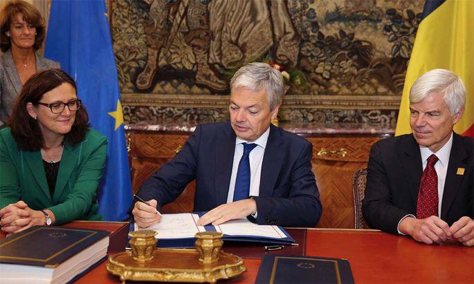Belgien unterzeichnet feierlich Ceta