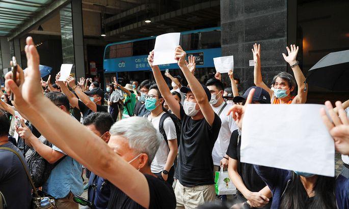 Proteste in Hongkong.