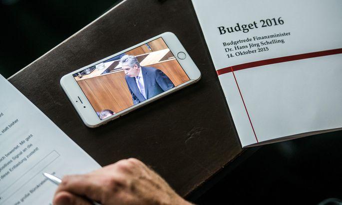 Austrian Financial Minister Hans Joerg Schelling Presents Budget