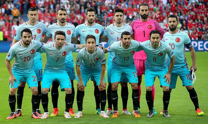 Die türkische Fußballmannschaft bei der Europameisterschaft.