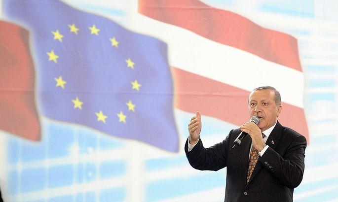 Er stand auch in Österreich eigentlich gar nicht zur Wahl: der türkische Präsident Erdogan.