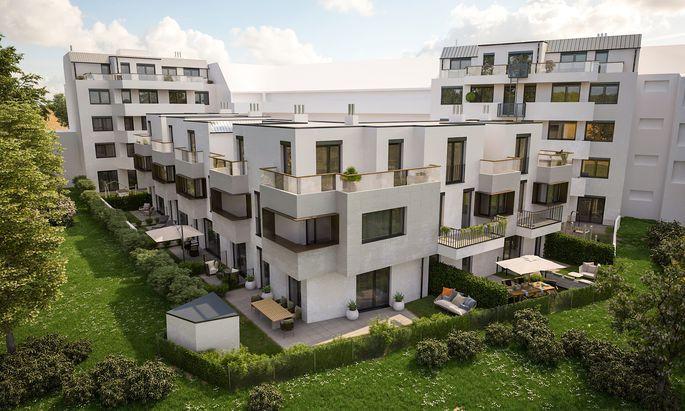 Im 21. Wiener Gemeindebezirk entstehen 25 Eigentumswohnungen und sechs Häuser.