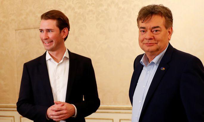Sebastian Kurz und Werner Kogler.