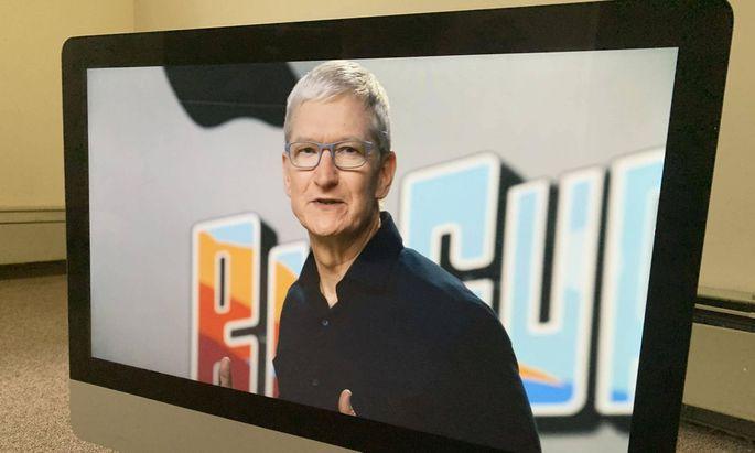 Apple-Chef Tim Cook bei der Entwicklerkonferenz