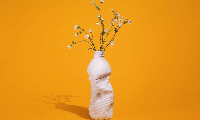 Prairie Wildflowers in a Repurposed Vase