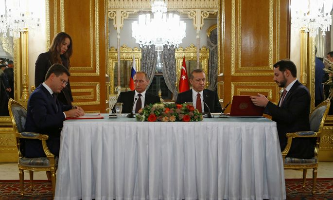 Präsident Recep Tayyip Erdoğan mit Wladimir Putin.
