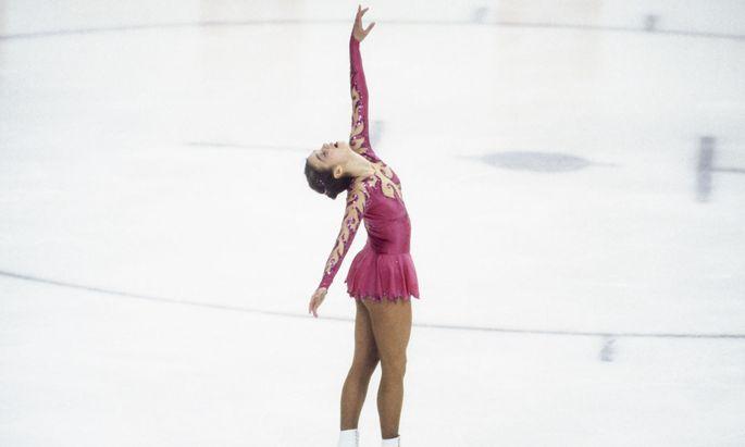 Makellos, mitreißend und erfolgreich: Katarina Witt gewann 1984 in Sarajewo ihr erstes Olympiagold.