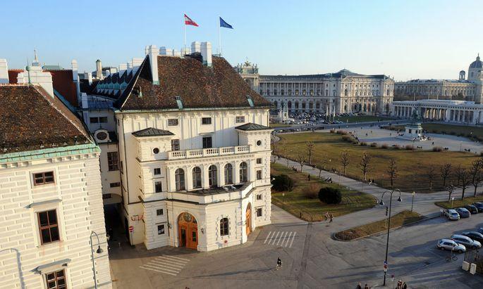 Blick auf die Wiener Hofburg