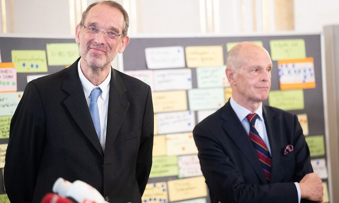 Bildungsminister Heinz Faßmann und Ex-Stadtschulratspräsident Kurt Scholz