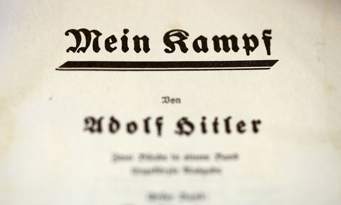 The title page of Adolf Hitler´s book ´Mein Kampf´ is pictured in Berlin