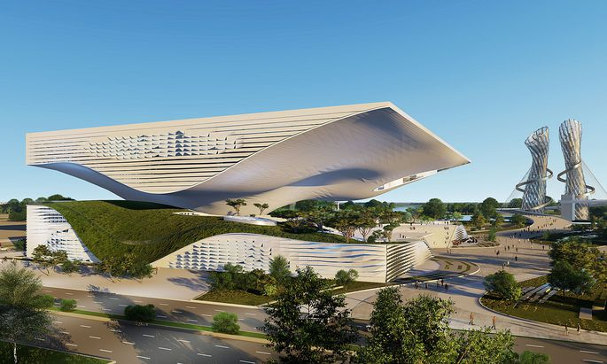 Das geplante Science & Technology Museum in Xingtai/China.