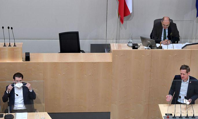 Nationalrat: Kurz/Sobotka/Krainer