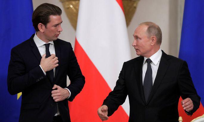 Sebastian Kurz besucht Wladimir Putin