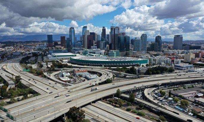 Los Angeles am Montag, die Highways sind kaum befahren.