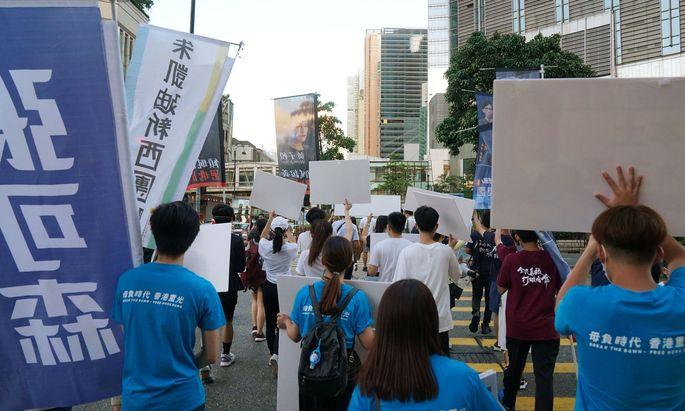Aktivisten in Hongkong.