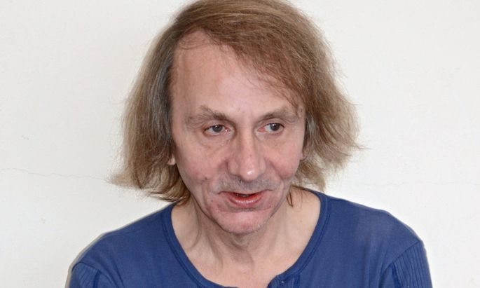 Michel Houellebecq attends a photocall in Venice during the Biennale mostra del Cinema Italy