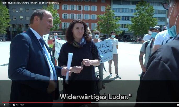 """Tirols Landeshauptmannstellvertreter Josef Geisler (ÖVP) hat sich nach Kritik an seinem """"Widerwärtiges Luder""""-Sager gegenüber einer WWF-Aktivistin nun auch schriftlich bei der jungen Frau entschuldigt."""