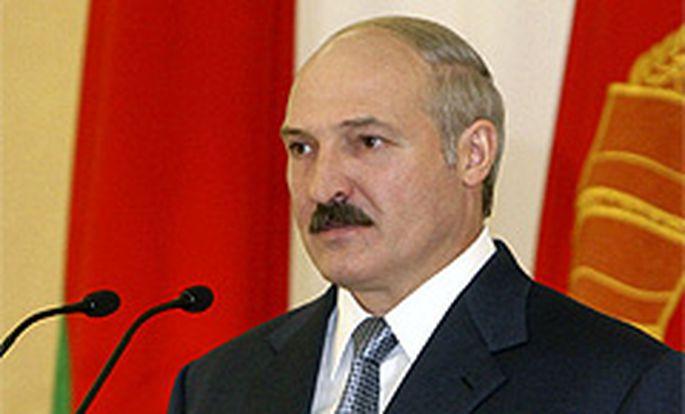 Offensichtlich erfreut - Weißrusslands Präsident Lukaschenko.