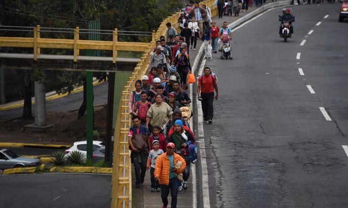 Migranten zwischen Honduras und Guatemala