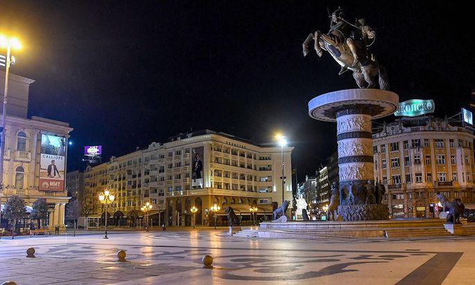In Nordmazedoniens Hauptstadt Skopje ist es derzeit wegen des Coronavirus ebenso ruhig wie in den meisten anderen Städten Europas.