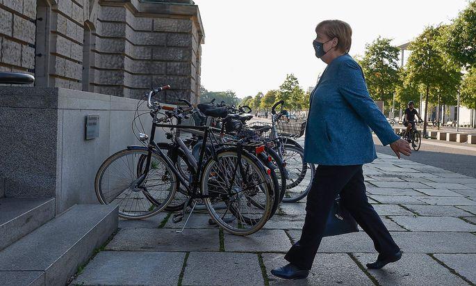 Angela Merkel vor dem deutschen Bundestag.