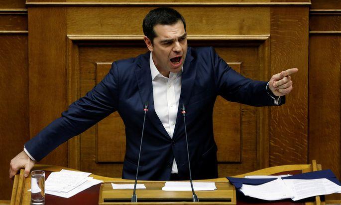 Griechenlands Premier Tspiras hielt die wohl beste Rede seiner Laufbahn.