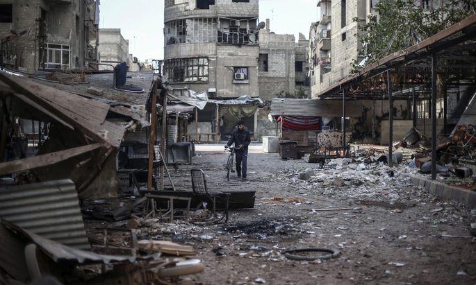 SYRIA DOUMA UNREST