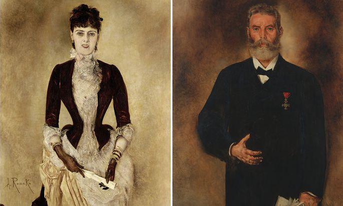 """Sie ist ein Meisterwerk Anton Romakos, er hält die """"Neue Freie Presse"""": Isabella, Christoph Reisser (1885), """"Presse""""-Technik-Direktor und Druckereibesitzer."""