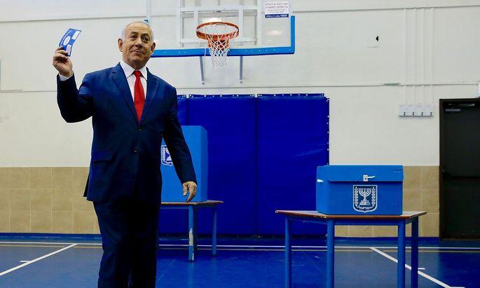 Benjamin Netanjahu gab seine Stimme ab.