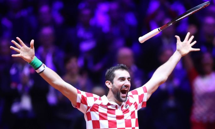 Davis Cup final France Croatia 25 11 2018 Lille France Pierre Mauroy stadium the final of D