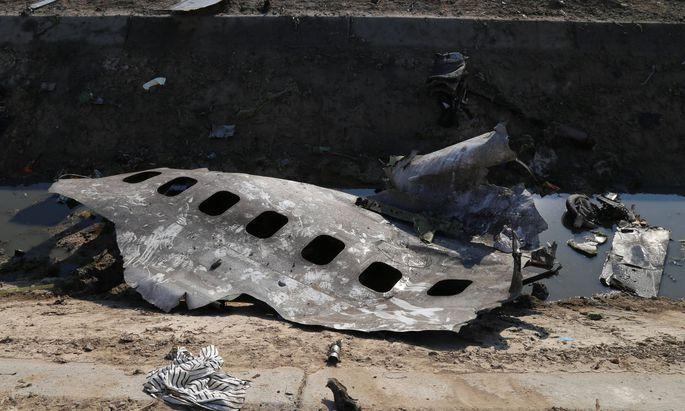 Teile des abgestürzten Flugzeugs