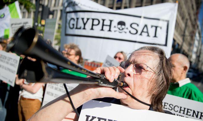 Demo gegen die Verlaengerung von Glyphosat